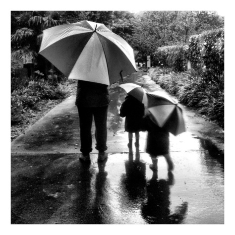 Walking in the Rain, iPhone photo