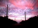 Another sunrise, another set of powerlines
